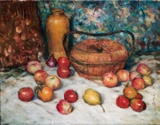 胡善餘繪於一九九○年的《靜物》,現藏中環美術館