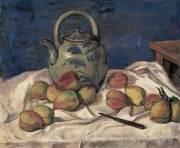 胡善餘繪於一九四一年的《桃與壺》,北京中國美術館收藏